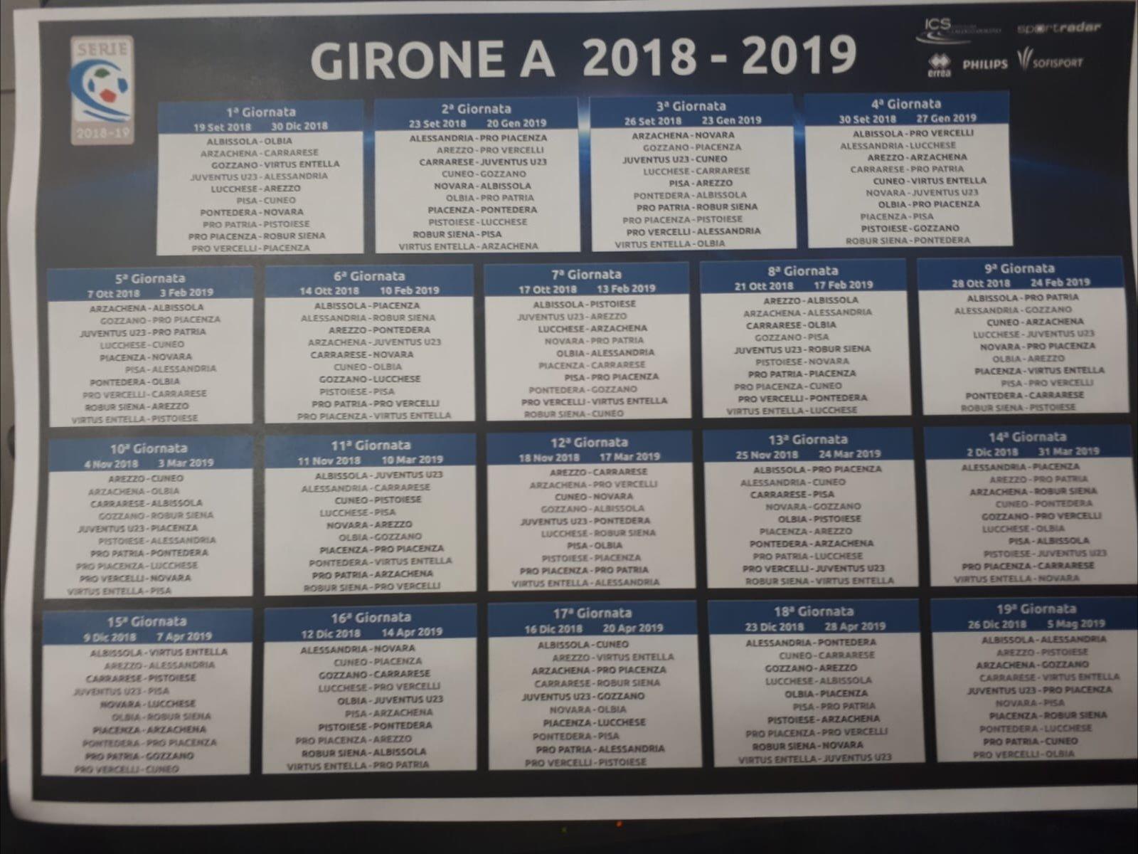Arezzo Calcio Calendario.Il Calendario Del Pisa Esordio Contro Il Cuneo All Arena